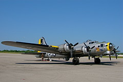 "Boeing B-17 Flying Fortress ""Liberty Belle"" (OK Photos) Tags: oklahoma liberty jones flying airport riverside may jr b17 richard lloyd belle boeing tulsa 2008 fortress rl"