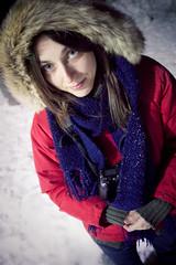 Elfo delle nevi (GAntico) Tags: portrait people italy snow como elena newyearseve bellagio capodanno lightroom  canonef20mmf28usm  pianorancio canoneos450d lightroom2