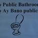 No Public Bathroom!