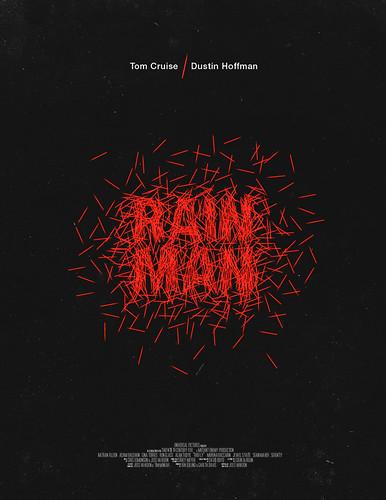 poster arte película Rain Man