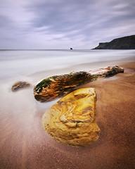 Saltwick Bay; North Yorkshire (Corica) Tags: longexposure sea seascape landscape nikon sandstone rocks yorkshire northsea whitby northyorkshire sandsend d300 saltwickbay corica blacknab