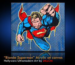 Blonde Superman by DILLON (DILLON BOY) Tags: original portrait urban celebrity modern vintage painting scrapbooking studio typography graffiti stencil published acrylic folkart gallery designer outsider propaganda auction contemporary surrealism famous fineart humor creative culture photojournalism photomosaic philosophy ideograms exhibit superman canvas popart collections exploitation streetartist painter blonde oil photomontage dillon americana medium spraypaint symbols collectables smallville coa homage emerging investment superboy photocollage seamless metaphorical lowbrow sarcasm artshows compositing mixmedia morphing constructivism provocative cubism redcape ultramodern walloffame militaryart propagandist hollyworx jamesdillonwright anamericanartistinitaly ironyart