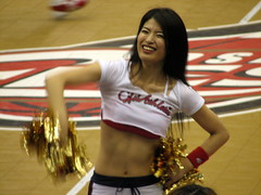 Osaka Evessa Cheerleader - Osaka, Japan 8 (glazaro) Tags: city basketball japan japanese asia stadium arena dome  osaka sendai kansai kadoma namihaya bjleague evessa 89ers