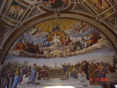 Raphael's The Disputation on the Holy Sacrament, Sistine Chapel, Vatican City