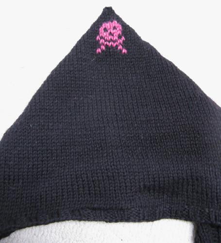 Back of hoodie scarf