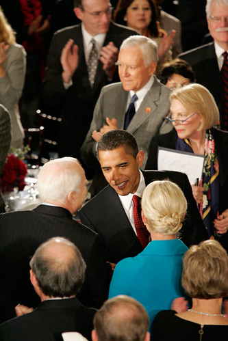 Inauguration Day 2009: Obama greets McCain at Statuary Hall luncheon by USA TODAY.