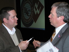 Trent Fredenburg with Monty Brown of U.S. Meat Export Federation