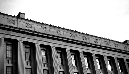 Justice Building, Washington, D.C. (Ilford Pan F Plus. Nikon F100. Epson V500.)