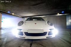 Flashing Fog Lights - Porsche 997 Turbo (calians.sevan) Tags: world auto new trip light sunset sea urban white france color art cars love beautiful car wheel sport speed canon wow french fun photography lights photo amazing nikon focus europe flickr pretty shoot photographer photoshoot flat image photos wheels 911 performance dream automotive spot exotic turbo photograph porsche motor nikkor flashing fabulous rim rims tamron 2008 technique blanc luxury rare 2009 supercar luxe spotting 2007 vitesse artisitic vehicule 997 carspotting sevan d40 flat6 d80 calians