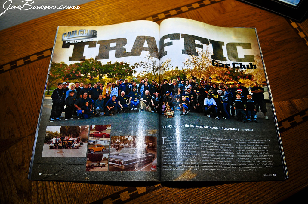2009 ~ Lowrider Magazine ~ April 09 ~ Car Club Feature ~ Traffic CC