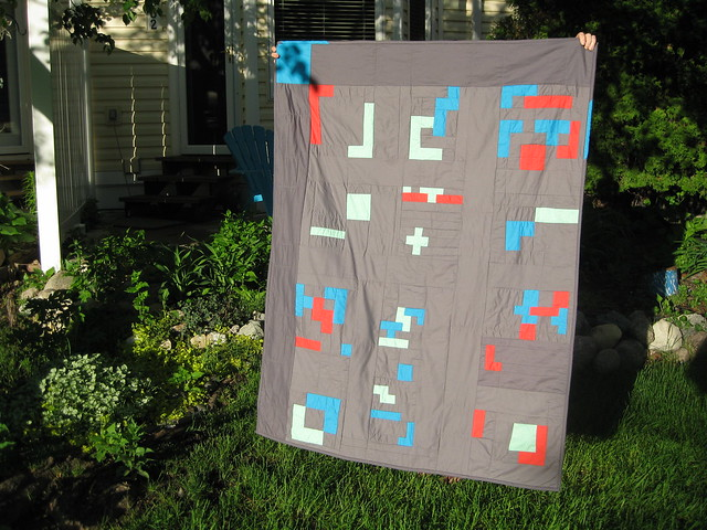 finshed tetris quilt - front