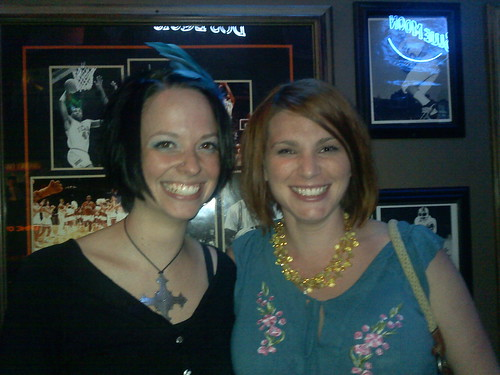 Becca and I at karaoke