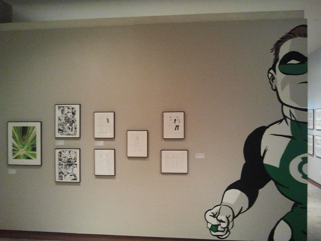 Green Lantern exhibit at Cartoon Art Museum in San Francisco