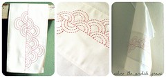 Sashiko Tea Towel ({Leila} Where Orchids Grow) Tags: white linen teatowel dishtowel sashiko kitchentowel
