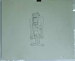 FRANKENSTEIN Like 1960's FLINTSTONES Orig Layout Draw (Nemo Academy) Tags: original hanna drawing barbera