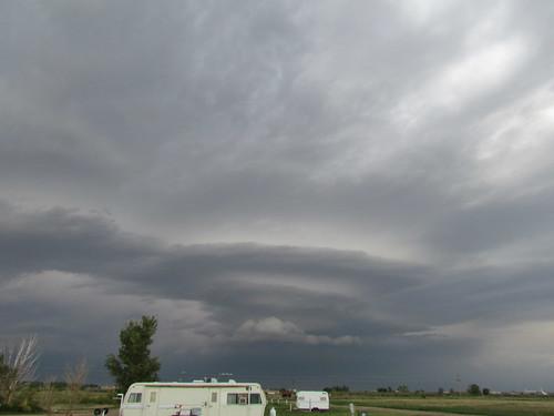 Storms near Deerfield, Kan.