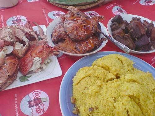 Yellow Rice and picnic food