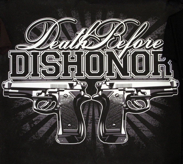Death Before Dishonor Tattoo Banner