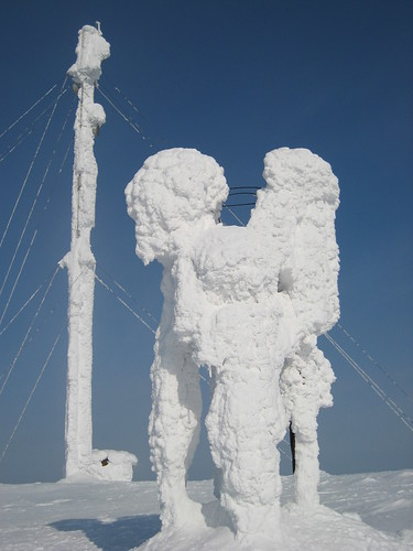 Snow art on the top of Ylläs