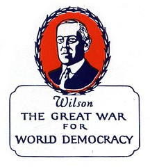 Woodrow (Depression Press) Tags: blue red usa white america vintage logo stars design us democracy 1930s election war graphic united president politics ornament seal badge printing wilson americana states letterpress patriotism woodrow 2008election depressionpress typecut