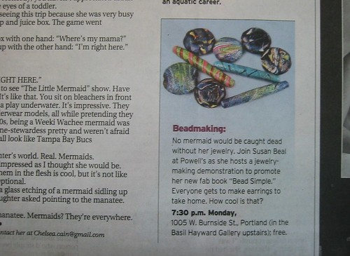 my book event mentioned in the Oregonian!