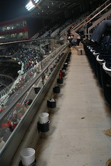 Empty seats in the sixth inning