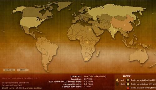 Carte mondiale CO2