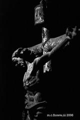 crucifix bw (marsthird12) Tags: santa city urban white black religious spain nikon asia catholic cross roman faith philippines religion jesus holy spanish crucifix week suffering semana crucifixion iloilo d80 nikond80