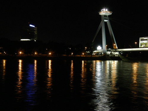 Nový Most by night