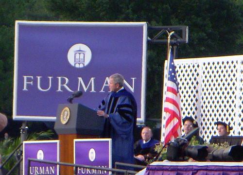 Bush at Furman