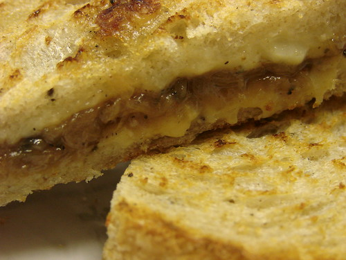 Grilled Gruyere with Carmelized Onions from 'wichcraft