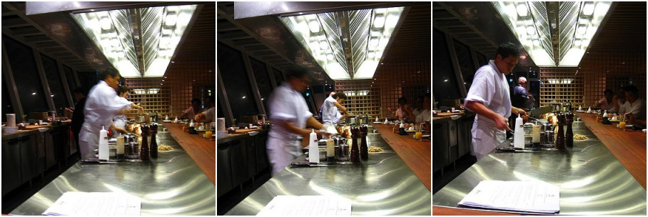 Cat's eye view of the Teppan counter
