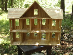 Rear View of doll house (dragonoak) Tags: underconstruction dollhouse minature
