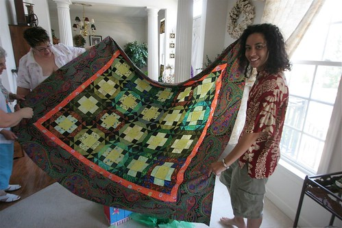 amber and her quilt