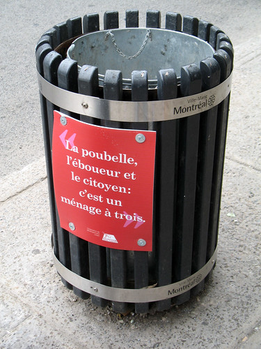 A Garbage Can Menage a Trois