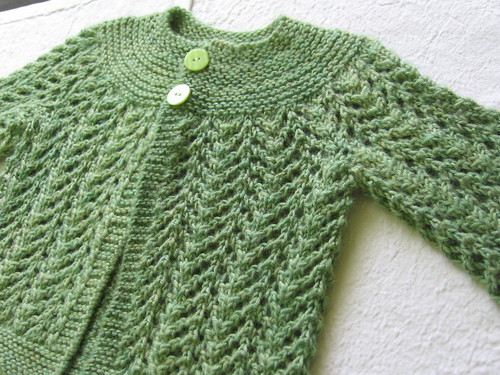 Collette's February Sweater, Finished