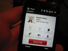 HTC Touch Diamond Calling Menu