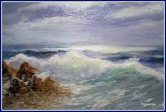 ----MARINA-- (Machu1) Tags: espaa costa azul painting arte playa andalucia malaga cuadros oleo imprsionista marcieloplaya piintura