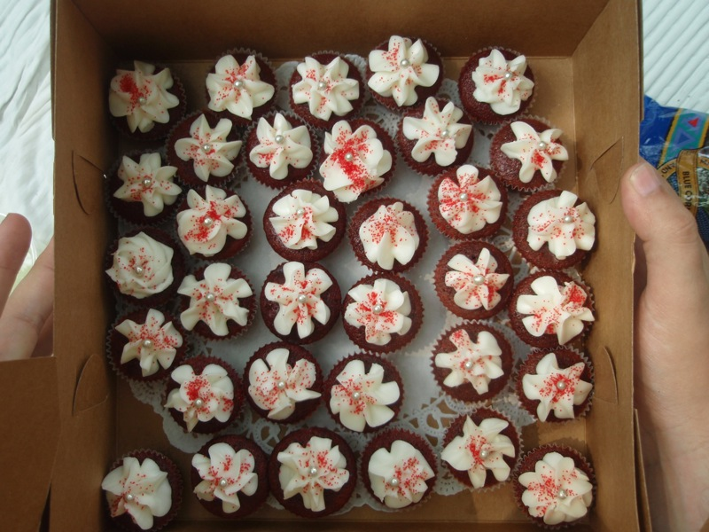 Red velvet mini cupcakes from Lux Sugar
