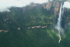 Angel Falls (Kerepakupai mer) (Ian Lambert) Tags: mist mountain water angel clouds river waterfall state venezuela bolivar angelfalls highest jimmi tepui canaimanationalpark golddragon auyan kerepakupaimer