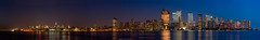 New York City, 2008 (ryanmcginnisphoto) Tags: world new york nyc autostitch panorama usa reflection night america lights mirror skyscrapers image dusk manhattan pano headquarters wtc hudson lower incredible goldman webres sachs mcginnis