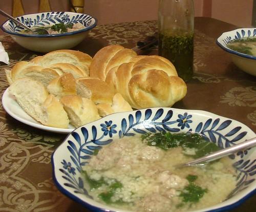 Italian Bread & Wedding Soup