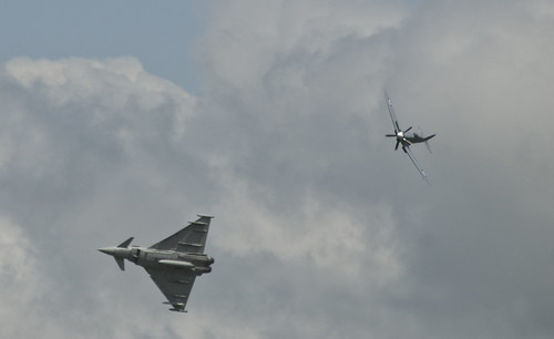 Typhoon Eurofighter and Spitfire