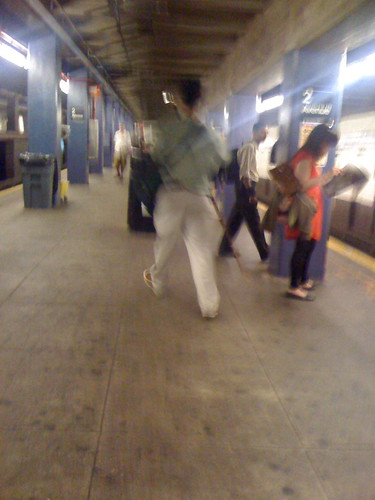 Second Avenue Subway Scepter Man on platform