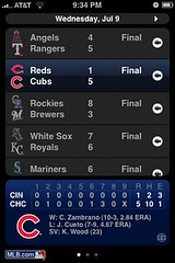 MLB iPhone app