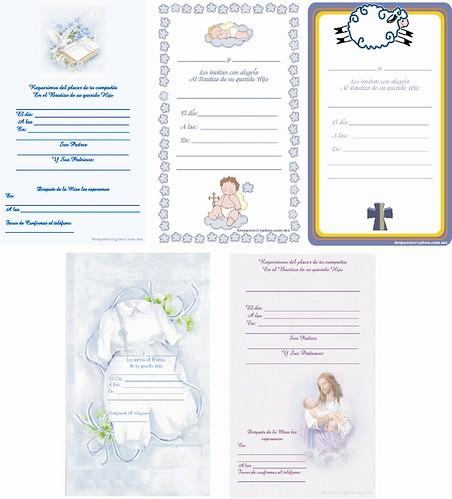 Estampitas de bautismo para imprimir - Imagui