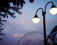 【写真】VQ1005で撮影したよこはまコスモワールド沿いの街灯