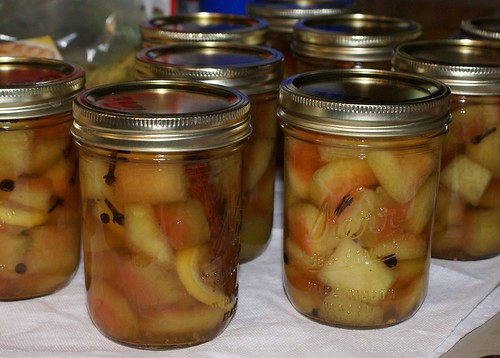 Jars of Watermelon Pickles