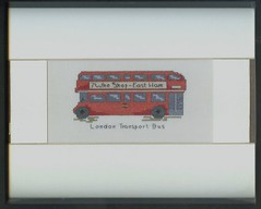 London Bus Cross Stitch