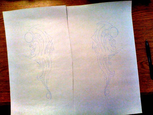 Burning Man: Traced Stencil For Boots